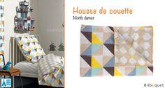 Housse de couette motifs Damier 140x200cm Little Big Room by Djeco - Chambre Arthur