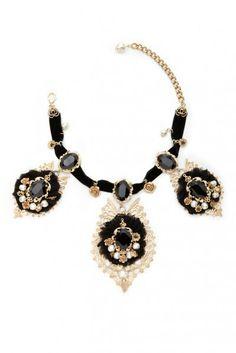 Collar barroco cristales
