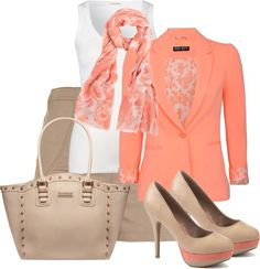 """Coral"" by maggie-jackson-carvalho on Polyvore"