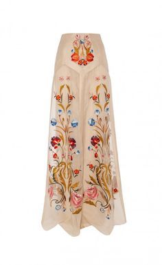 Embroidered wedding skirt. Paired with the right top, this would make for an incredible bridal look! By Temperley London.