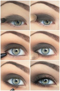 Best Smoky Makeup Tutorials for Christmas Parties -- Simple Smoky Eyes