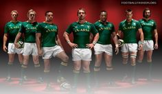 South Africa Springboks Canterbury Rugby World Cup 2011 Jerseys