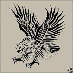 Tribal Eagle Tattoo, Eagle Tattoos, Diy Tattoo, Airbrush Supplies, Airbrush Tattoo, Pyrography Patterns, Ancient Goddesses, Eagle Bird, Wood Burning Patterns