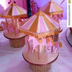 Carousel Birthday Parties, Birthday Party Decorations, Unicorn Birthday, Girl Birthday, Baby Shawer, Vintage Carnival, Table Toppers, Pastel, Gabriel