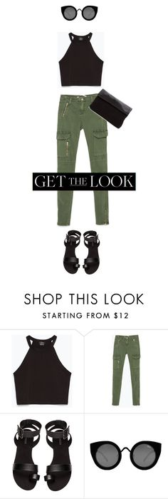 """""""Edgy- Get the look! Under 150$"""" by natyleygam ❤ liked on Polyvore featuring Zara, H&M and Quay"""