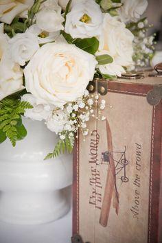 style me pretty - real wedding - canada - toronto wedding - reception decor - table decor - centerpiece - vendela roses, baby's breath & lady fern