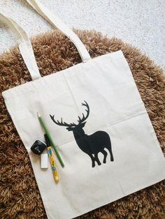 deer printed bag DIY