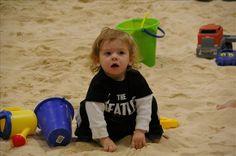 So cute! Indoor sandbox play in Seattle!
