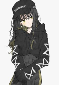 Discover Anime Clothing Sweatshirt from Anime_Clothing, a custom product made just for you by Teespring. Manga Girl, Emo Anime Girl, Anime Girl Pink, Pretty Anime Girl, Beautiful Anime Girl, Kawaii Anime Girl, Anime Girl With Black Hair, Anime Neko, Chica Anime Manga