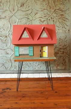 Vintage Mid Century Dolls House by TriBecasVintage on Etsy