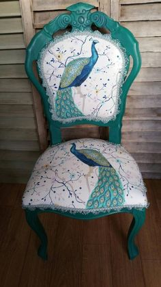 Beautiful boudoir chair, painted in Annie Sloan Florence and waxed Reupholstered. Funky Furniture, Repurposed Furniture, Unique Furniture, Furniture Makeover, Furniture Ideas, Dresser Makeovers, Furniture Removal, Furniture Movers, Furniture Outlet