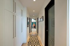 interior door jambs painted black - Jennie Garth's Midcentury Modern Masterpiece | The Jennie Garth Project | GAC