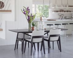 Dining Table And Fuchsia Dining Chair From Dania Furniture Co Dining