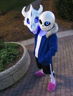 *anyway, as i was saying, it's a nice day out. why not relax and take a load off? *Ready? *here we go. Sans Cosplay created by Tiny Wyvern