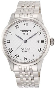 Tissot Men's T41148333 Le Locle Silver-Tone Watch with Te…