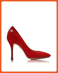 Charlotte Olympia Women's C1750001307 Red Suede Pumps - Pumps for women (*Amazon Partner-Link)