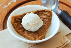 healthy crustless pumpkin pie