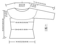 """Kötött Drops pulóver, harisnyakötéssel, csipkemintával, kerek vállrésszel, fentről kezdve """"Paris"""" fonalból. Méret: S - XXXL. ~ DROPS Design"""