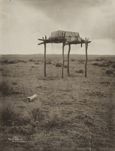 Native American burial ground, 1910, Richard Throssel photograph
