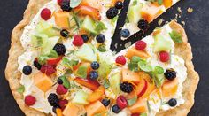 Summer Fruit Pizza with Rosemary and Basil
