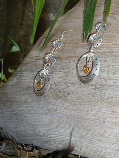 Items similar to Silver dangly bubble earrings with swarovski birthstone crystal on Etsy Washer Necklace, Swarovski, Bubbles, Studio, Trending Outfits, Unique Jewelry, Handmade Gifts, Earrings, Silver