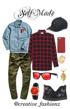 """""""Rich Yung"""" by dashaunw on Polyvore featuring Starter, Vivienne Westwood, King Ice, Yves Saint Laurent, G-Star Raw, Ray-Ban, Gucci, Polo Ralph Lauren, men's fashion and menswear"""