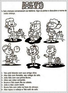 ♥Sugestão De Atividade Escolar♥: Raciocínio Lógico