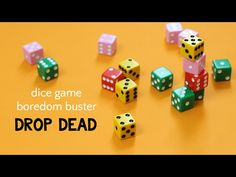 Rules for how to play Drop Dead Dice Game. A fun boredom buster for kids that uses math skills and can also teach about probability. Probability Games, Dice Games, Math Games, Fun Card Games, Card Games For Kids, Fun Games, Group Games For Kids, Family Games, Activities For Kids
