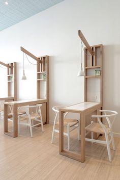 Nail Salon - Spa Interiors - Hospitality Design - Pendant Lighting - Wall Desk