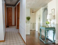 Make your hallway go from BEFORE TO AFTER