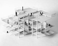 Is it possible to create vertical movement without including stairs/ramps? this project is about a lounge area for students,… Conceptual Model Architecture, System Architecture, Timber Architecture, Architecture Design, Structural Model, Urban Design Concept, Monospace, Cube Design, Arch Model
