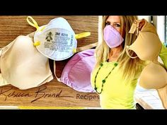 How to Make an Mask out of a BRA DIY Do it Yourself Respirator Mask In My Opinion - mask making Homemade Face Masks, Diy Face Mask, Alcohol En Gel, Old Bras, Diy Masque, Diy Bra, Respirator Mask, Protective Mask, Pocket Pattern