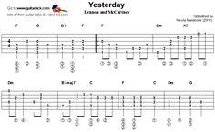 guitarnick | Yesterday, Beatles - fingerstyle guitar tablature 1