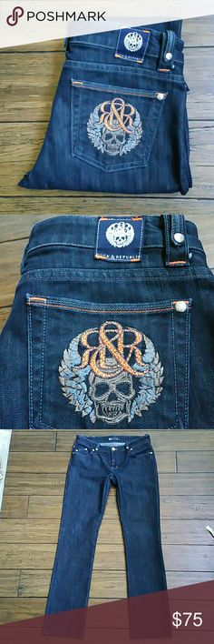 Rock & Republic Jeans NWOT NWOT  Size 29 60% cotton  40% expand Inseam 31 1/2 inches  Rise 8 inches  Beautiful jeans!! Look even better in person!! Rock & Republic Jeans Boot Cut