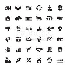 Elections and Politics vector icons royalty-free stock vector art