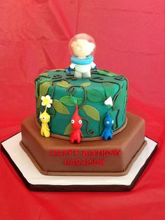 Pikmin birthday cake