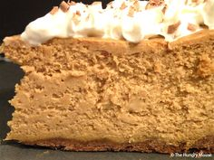 Brown Sugar Pumpkin Cheesecake.