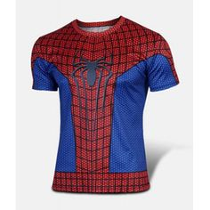 Fashion Round Neck Slimming Color Block Spider-Man Print Short Sleeve Polyester T-Shirt For Men-8.28 and Free Shipping| GearBest.com