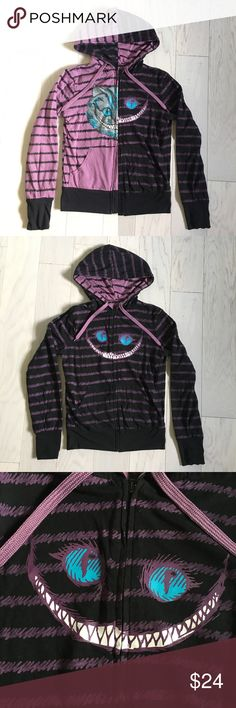 Selling this Reversible Cheshire Cat Zip Up Hoodie on Poshmark! #shopmycloset #poshmark #fashion #shopping #style #forsale #Hot Topic #Tops