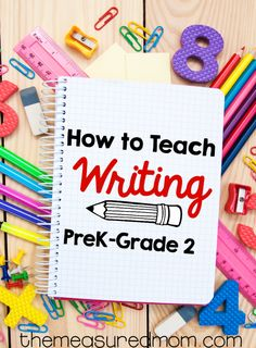 Check out these FREE writing lessons from two experienced teachers - you'll find resources for teaching writing in preschool, kindergarten, first, and second grade! by janelle Preschool Writing, Kindergarten Literacy, Teaching Writing, Teaching Ideas, How To Teach Writing, Preschool Workbooks, Teaching Handwriting, Writing Curriculum, Preschool Teachers