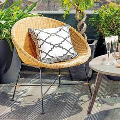 Sillas y sillones de terraza Decor, Wicker Chair, Chair, Furniture, Saucer, Saucer Chairs, Home Decor