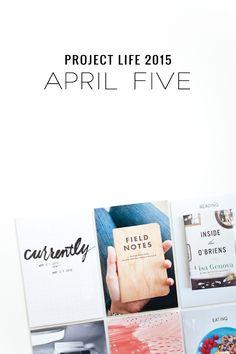 big city quiet: Project Life 2015 | April Five