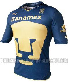 Todo Sobre Camisetas: Nuevos Jerseys Puma de Pumas UNAM 10/11 (Local, Visita y Tercera)