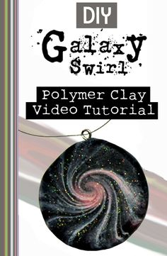 "Quick video tutorial that demonstrates how to make this galaxy swirl in polymer clay. If you are looking for a fun polymer clay idea you found it! They come out so stunning and it's a great beginner swirl project as even the ""mess ups"" look great!"