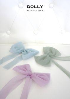 Chiffon hair bow Sea Blue