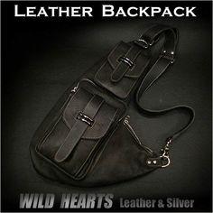Genuine Leather Backpack Shoulder Sling Bag Black WILD HEARTS  http://item.rakuten.co.jp/auc-wildhearts/bb2293t9/