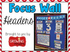 daily focus wall in conjunction with student learning goals (I can statements) Marzano