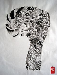 Dragon Tattoo flash by yoso tattoo