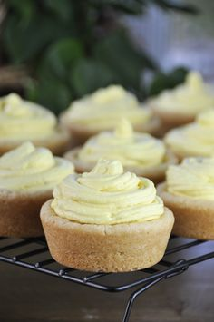 Lemon Mousse Sugar Cookie Cups | Wishes and Dishes