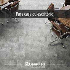 Stonetile - Piso Vinílico com visual cimentício em placas de 50 cm X 50 cm.    Beaulieu - Soluções inteligentes para o piso!    #lvt #pisos #pisovinilico #decor design #beaulieudobrasil